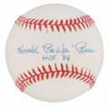 "Autographs:Baseballs, Harold ""Pee Wee"" Reese ""HoF 84"" Single Signed Baseball...."