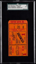 Baseball Collectibles:Tickets, 1952 World Series Game 1 Ticket Stub - Dodgers vs. Yankees, SGCAuthentic. ...