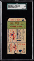 Baseball Collectibles:Tickets, 1950 World Series Game 4 Ticket Stub - Yankees vs. Phillies, SGCAuthentic. ...