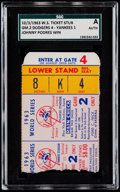 Baseball Collectibles:Tickets, 1963 World Series Game 2 Ticket Stub - Dodgers vs Yankees, SGCAuthentic. ...