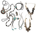 Estate Jewelry:Lots, Southwestern Multi-Stone, Sterling Silver, Silver, Mixed Metal Jewelry. ... (Total: 9 Items)