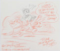 Animation Art:Production Drawing, Ken Mitchroney Ren, Stimpy, and Bosko Gift Sketch(Nickelodeon, 1993)....