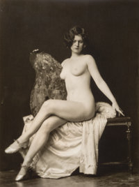 Alfred Cheney Johnston (American, 1885-1971) Seated nude Gelatin silver 13 x 9-3/4 inches (33 x 2