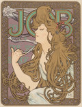 Prints, Alphonse Mucha (Czechoslovakian, 1860-1939). Job Cigarette Papers (from Les Maîtres de L'Affiche). Lithograph in colors...