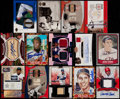 Baseball Cards:Lots, 1982-2005 Baseball Relic, Low Serial #'d and Autograph Card Collection (14)....