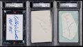 Hockey Collectibles:Others, Hockey & Football Hall of Famers PSA/DNA Trio (3). ...