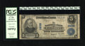 National Bank Notes:Maryland, Baltimore, MD - $5 1902 Plain Back Fr. 598 The NB Ch. # 1432.Printed signatures of Wm. J. Delcher and Jno. Schoenewolf ...