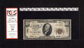 """National Bank Notes:Washington, Spokane, WA - $10 1929 Ty. 1 The First National Trust & Savings Bank Ch. # 13331. This red label $10 is inscribed """"cray..."""