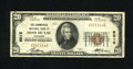 National Bank Notes:Wisconsin, Fond Du Lac, WI - $20 1929 Ty. 1 The Commercial NB Ch. # 6015. E.J. Shaw and H.R. Potter saw this bank go into receivers...