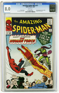 The Amazing Spider-Man #17 (Marvel, 1964) CGC VF 8.0 White pages. A very nice copy of a much sought-after book, featurin...
