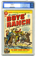 Golden Age (1938-1955):Western, Boys' Ranch #1 File Copy (Harvey, 1950) CGC VF 8.0 Cream to off-white pages. Simon & Kirby art. Overstreet 2005 VF 8.0 value...