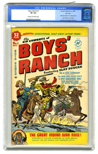 Boys' Ranch #1 File Copy (Harvey, 1950) CGC VF 8.0 Cream to off-white pages. Simon & Kirby art. Overstreet 2005...