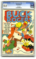 Golden Age (1938-1955):Science Fiction, Buck Rogers #3 (Eastern Color, 1941) CGC VF 8.0 Off-white pages.The trend-setting space hero had appeared in pulps as early...