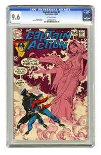 Captain Action #4 (DC, 1969) CGC NM+ 9.6 Off-white pages. Gil Kane story, cover, and art. Overstreet 2005 NM- 9.2 value...