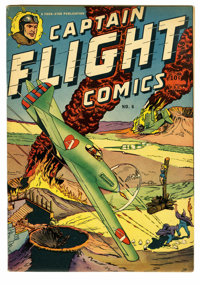 Captain Flight #6 (Four Star, 1945) Condition: FN+. L. B. Cole art. Has a 1-inch tear to back cover. Overstreet 2005 FN...
