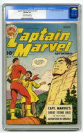 """Golden Age (1938-1955):Superhero, Captain Marvel Adventures #33 (Fawcett, 1944) CGC VF/NM 9.0 Cream to off-white pages. CGC notes, """"Name stamp on first page.""""..."""
