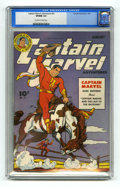 Golden Age (1938-1955):Superhero, Captain Marvel Adventures #51 (Fawcett, 1946) CGC VF/NM 9.0 Off-white to white pages. Overstreet 2005 VF/NM 9.0 value = $275...