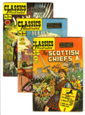 Golden Age (1938-1955):Classics Illustrated, Classics Illustrated First Editions Group (Gilberton, 1950)Condition: Average FN-. Features #67 (The Scottish Chiefs), 68 (...(Total: 3 Comic Books)