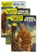 Golden Age (1938-1955):Classics Illustrated, Classics Illustrated First Editions Group (Gilberton, 1952-53)Condition: Average VF-. Includes #96 (Daniel Boone), 104 (Bri...(Total: 3 Comic Books)
