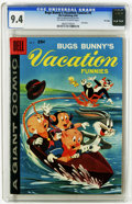Silver Age (1956-1969):Cartoon Character, Dell Giant Comics - Bugs Bunny's Vacation Funnies #9 File Copy (Dell, 1959) CGC NM 9.4 Off-white to white pages. This is cur...