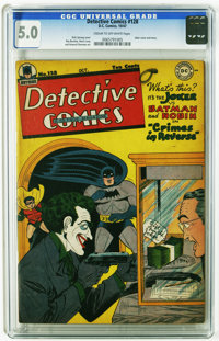 Detective Comics #128 (DC, 1947) CGC VG/FN 5.0 Cream to off-white pages. Joker cover/story. Art by Dick Sprang, Ray Burn...