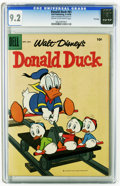 Silver Age (1956-1969):Cartoon Character, Donald Duck #61 File Copy (Dell, 1958) CGC NM- 9.2 Cream to off-white pages. Overstreet 2005 NM- 9.2 value = $60. CGC census...