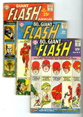 Silver Age (1956-1969):Superhero, 80-Page Giant Flash Group (DC, 1963-65). Includes 80-Page Giant #4 (VG) and 9 (VG+) plus Flash Annual #1 (GD+). Appr... (Total: 3 Comic Books)