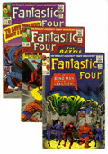 """Silver Age (1956-1969):Superhero, Fantastic Four Group (Marvel, 1965-68) Condition: Average VG. Includes #39, 40, 42, 51 (classic """"This Man...This Monster"""" st... (Total: 12 Comic Books)"""