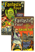 Silver Age (1956-1969):Superhero, Fantastic Four #48 and 49 Group (Marvel, 1966). The first two chapters in the epic three-part story that introduced the Silv... (Total: 2 Comic Books)
