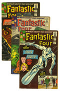 Silver Age (1956-1969):Superhero, Fantastic Four #50-54 Group (Marvel, 1966). This group of key FF issues includes #50 (Silver Surfer vs. Galactus, VG), 51 (c... (Total: 5 Comic Books)