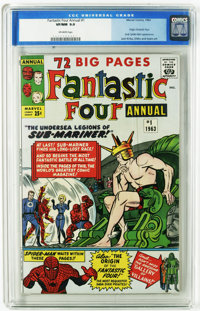 Fantastic Four Annual #1 (Marvel, 1963) CGC VF/NM 9.0. The Sub-Mariner attacks the human race. Jack Kirby cover and art...