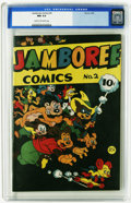 Golden Age (1938-1955):Funny Animal, Jamboree Comics #2 (Round, 1946) CGC NM 9.4 Cream to off-white pages. Funny animals abound in this short-lived series. Overs...