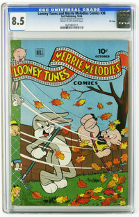 Looney Tunes and Merrie Melodies Comics #36 File Copy (Dell, 1944) CGC VF+ 8.5 Cream to off-white pages. Bugs Bunny appe...