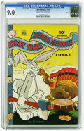Golden Age (1938-1955):Cartoon Character, Looney Tunes and Merrie Melodies Comics #38 File Copy (Dell, 1944) CGC VF/NM 9.0 Cream to off-white pages. Bugs Bunny appear...