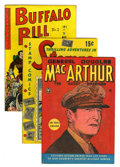 Golden Age (1938-1955):Miscellaneous, Golden Age Non-Fiction Group (Various Publishers, 1943-51). Features General Douglas MacArthur #nn (FN); Stamps #1 (... (Total: 4 Comic Books)