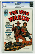 "Silver Age (1956-1969):Western, Movie Classics ""The War Wagon"" (Dell, 1967) CGC VF/NM 9.0 Whitepages John Wayne and Kirk Douglas appear on the cover. To da..."