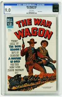 "Movie Classics ""The War Wagon"" (Dell, 1967) CGC VF/NM 9.0 White pages John Wayne and Kirk Douglas appear on th..."
