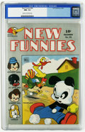 Golden Age (1938-1955):Funny Animal, New Funnies #94 (Dell, 1944) CGC NM+ 9.6 Cream to off-white pages.A gorgeous copy, far and away the highest-graded copy (in...