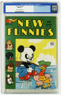 Golden Age (1938-1955):Funny Animal, New Funnies #95 (Dell, 1945) CGC NM 9.4 Cream to off-white pages.Woody Woodpecker, Andy Panda, and Raggedy Ann and Andy app...