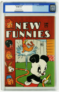 Golden Age (1938-1955):Humor, New Funnies #98 (Dell, 1945) CGC VF/NM 9.0 Cream to off-white pages. Andy Panda, Raggedy Ann and Andy, and Oswald the Rabbit...