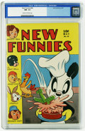 Golden Age (1938-1955):Funny Animal, New Funnies #99 (Dell, 1945) CGC NM- 9.2 Cream to off-white pages.Andy Panda cover by Walter Lantz. Raggedy Ann and Andy ap...