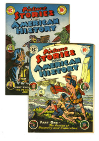 Picture Stories From American History #1 and 2 Group (EC, 1946). Includes #1 (VG/FN) and 2 (FN). Approximate Overstreet...
