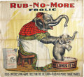 "Advertising:Signs, Dazzling and Colorful ""Rub No More"" Advertising Cloth...."