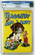 Golden Age (1938-1955):Cartoon Character, Raggedy Ann and Andy #15 File Copy (Dell, 1947) CGC VF- 7.5 Off-white pages. Overstreet 2005 VF 8.0 value = $86. CGC census ...