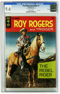 Roy Rogers and Trigger #1 File Copy (Gold Key, 1967) CGC NM+ 9.6 Off-white pages. Photo cover. This is currently the hig...