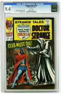 Silver Age (1956-1969):Superhero, Strange Tales #154 (Marvel, 1967) CGC NM 9.4 White pages. Art by Jim Steranko (Nick Fury, Agent of S.H.I.E.L.D. story) and M...