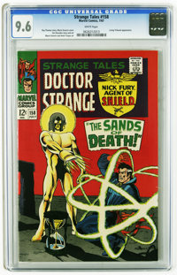 Strange Tales #158 (Marvel, 1967) CGC NM+ 9.6 White pages. Living Tribunal appearance. Marie Severin cover. Severin, Her...