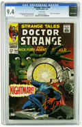 Silver Age (1956-1969):Horror, Strange Tales #164 (Marvel, 1968) CGC NM 9.4 White pages. Dan Adkins cover. Adkins, Jim Steranko, and Bill Everett art. Over...