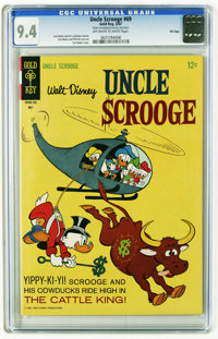Uncle Scrooge #69 File Copy (Gold Key, 1967) CGC NM 9.4 Off-white to white pages. Carl Barks story, cover, and art. Over...