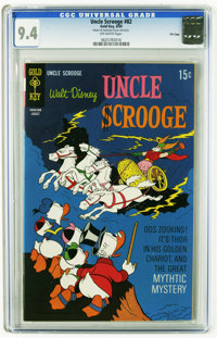 Uncle Scrooge #82 File Copy (Gold Key, 1969) CGC NM 9.4 Off-white pages. Overstreet 2005 NM- 9.2 value = $70. CGC census...
